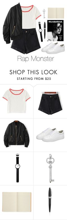 """BTS"" by vieen ❤ liked on Polyvore featuring Aéropostale, WithChic, Rosendahl, Connor and Pineider"