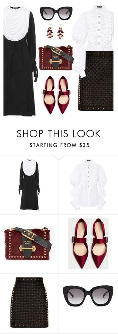 """""""Be decadent"""" by pensivepeacock ❤ liked on Polyvore featuring J.W. Anderson, Dolce&Gabbana, Prada, Balmain and Kate Spade"""