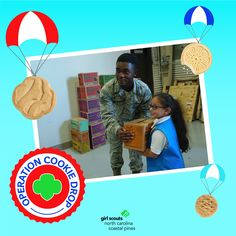 We are entering our 15th year of Operation Cookie Drop! Through this council-wide service project, we have donated over one million boxes of Girl Scout cookies to military men and women serving our country. Learn more.