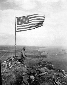 1945 MR Iwo Jima Victory Flag on Mount Suribachi