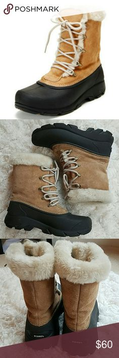 Warm Sorel Boots Warm lining and insulated. Gently used. Waterproof. Sorel Shoes Winter & Rain Boots