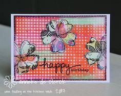 On todays card I again used the Fine Flowers Vol 2 stamp set by Darkroom Door. Opnieuw een kaartje gemaakt met de Fine Flowers Vol 2 ...