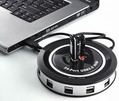 30 Coolest Or Nerdiest Office Gadgets >> 24 Port USB Monster Hub