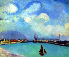 The Port, c. 1907, by Raoul Dufy (French, 1877-1953).