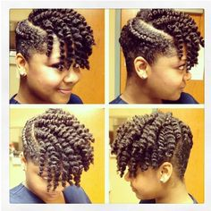 Stunning @mrskelzdavis0311 This is cute, I would do this with it brushed and pinned up instead of with twist.