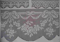 Curtain border crochet