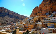 The Overview of Ma'lulla in Syria, known as the last surviving place where Western Aramaic (Aramaic of Jesus) is still spoken. Places To Travel, Places To See, Wonderful Places, Beautiful Places, Travel Pictures, Beautiful World, Scenery, Around The Worlds, Explore