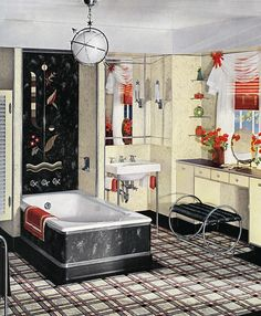 Cool Art Deco / Machine Age Bathroom | Flickr - Photo Sharing!