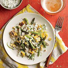 Superfast Summer Salads | Grilled Corn, Crab, and Asparagus Salad | MyRecipes.com
