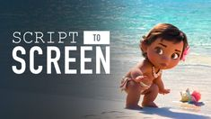 Baby Moana Meets The Ocean – Script To Screen Moana Poster, Disney Sign, A Cartoon, Disney Family, Disney Movies, Moana Disney, Disney Disney, Script, How To Memorize Things