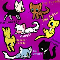 Just have to love fnaf + cats= too much cuteness.