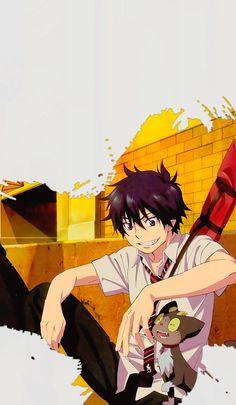 Ao no Exorcist Gato Anime, Chica Anime Manga, Otaku Anime, Kawaii Anime, Anime Art, Blue Exorcist Mephisto, Blue Exorcist Anime, Ao No Exorcist, Rin Okumura
