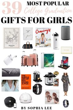 My sister will love these college graduation gift ideas! These popular college graduation gifts for girls show the graduate just how special their accomplishment is with gift ideas they will use all the time. Outdoor Graduation Parties, Graduation Party Centerpieces, Graduation Party Themes, College Graduation Gifts, College Gifts, College Fun, Graduation Ideas, College Students, Graduation Decorations