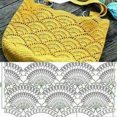 Com - Best 10 Purse bag crochet pattern salvabrani – Artofit – SkillOfKing. Bag Crochet, Mode Crochet, Crochet Shell Stitch, Crochet Clutch, Crochet Handbags, Crochet Purses, Crochet Collar, Crochet Diagram, Crochet Chart