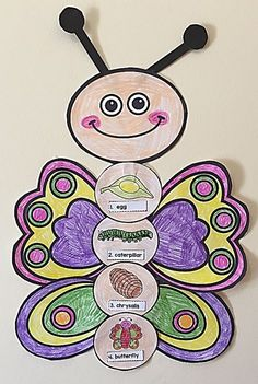 Ideas Animal Art Kindergarten Activities For 2019 Spring Activities, Art Activities, Sequencing Activities, Preschool Themes, Preschool Crafts, Life Cycle Craft, Butterfly Life Cycle, Cycling Art, Cycling Quotes