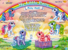 My Little Pony Baby Ponies backcard