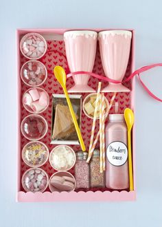 Ice-cream decorating kit. Im Giving my little boy an ice cream maker for his birthday, I might make one of these to go with it :)