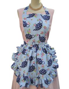 Teapot Apron by Pearly Queen Boutique