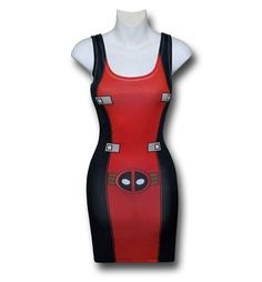 One day this will be back in stock and I will bribe someone into buying it for me. [Deadpool Costume Sublimated Stretch Fit Tank Dress]