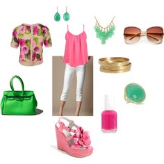 tropical summer vaca, created by all4fairydust.polyvore.com