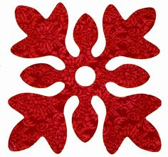 Quilting - Free Quilting Patterns - Applique Instructions I think I have this in one of my books, but now I will remember to look. Hawaiian Quilt Patterns, Hawaiian Pattern, Hawaiian Quilts, Quilt Block Patterns, Applique Patterns, Applique Quilts, Pattern Blocks, Quilt Blocks, Quilting Projects