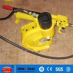 chinacoal03 Pump Operated Hydraulic Busbar Hole Punching Machine Hydraulic Punching Tools CH-60 is a remote control tool, works with an external hydraulic pump (Hand Foot or Electric pump). It is designed to punch round holes on Cu/Al Busbar. With 4 pairs standard punching dies (10.5 / 13.8 / 17 / 20.5mm), punching hole size is between diameter 10.5mm and diameter 20.5mm. Busbar thickness should below or equivalent to 8mm. With hydraulic power, 4 pairs sharp punching dies, easy fast and clea