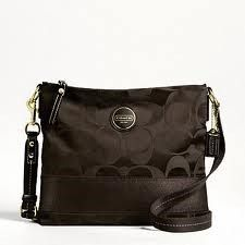 I imagine that this matches with everything! COACH F18038 CROSS BODY STRIPE BAG
