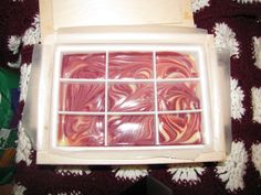 Raspberry Swirl Soap smells good enough to eat!