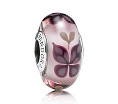 Pandora Pink Butterfly Kisses Murano Glass Charm | www.goldcasters.com