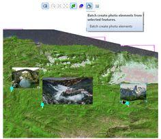 Funcionamiento de la herramienta ArcPhoto en ArcGIS.