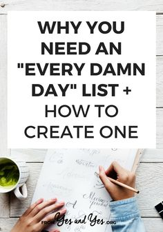 Looking for productivity tips or trying to stay positive? You might need an Every Damn Day List! Click through and see how this super simple tool can help you stay on track towards your goals, not matter what else is going on with your life! Fitness Workouts, Self Development, Personal Development, Leadership Development, How To Remove, How To Get, How To Plan, Affirmations, Day List