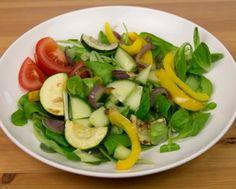 Veldsla met gegrilde groentes