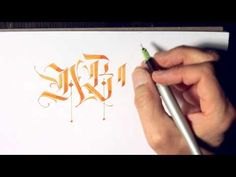 Parallel Pen Calligraphy - A - F Caps