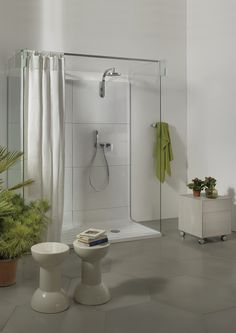 Ceramica Flaminia  Shower curtain by PuroLino.it bathroom