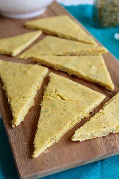 Rosemary Chickpea Flatbread {Vegan, Gluten Free} // pumpkin & peanut butter