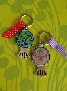 Pomegranate keychain silver plated keychain by irisdesign1 on Etsy