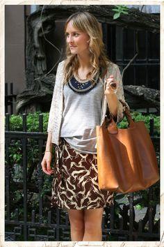 Lucy Laucht oufit {Skirt: Topshop, t: Isabel Marant Etoile, jacket: Sportsgirl, necklace: Lizze Fortunato, shoes: Aldo, bag: Zara}