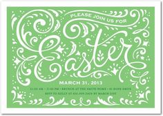 Spring Forward - #Easter Party Invitations - Magnolia Press - Melon Green