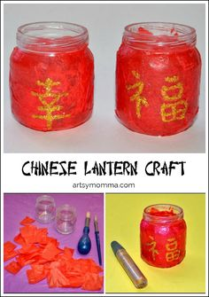 Chinese Lantern Craft for Kids - Chinese New Year