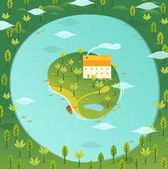 kidney island - alex mathers illustration picture on VisualizeUs Landscape Illustration, Graphic Illustration, Vector Illustrations, Singapore Map, Cartoon Styles, Art Blog, Vector Art, Art Boards, Illustrators