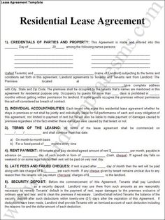 free rental agreement forms   Lease