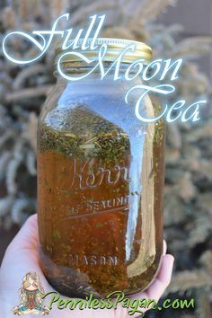 Penniless Pagan: Full Moon Tea: Emotional Well-being - This this tea can be made with any combination of herbs for any particular need. Always keep in mind that your tea will take on the energies of the Zodiac sign that the Moon is in as well. Full Moon Tea, Full Moon Ritual, Full Moon Spells, Full Moon Party, Hedge Witch, Kitchen Witchery, Practical Magic, Witches Brew, Tea Blends