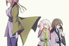Tsunade, Jiraiya, and Orochimaru #Naruto