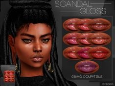 The Sims 4 Scandal Gloss The Sims 4 Pc, Sims 4 Cas, Sims Cc, Sims 4 Cc Eyes, Sims 4 Cc Skin, Sims 4 Game Mods, Sims Mods, Xavier Rudd, Sims 4 Black Hair