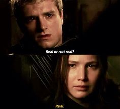 Real or not real - Mockingjay part 2. Peta and Katniss (Josh Hutcherson and Jennifer Lawrence)