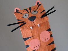 Paper Bag Tigers-   Relate to animals in the Chinese Zodiak, could do various bag animals