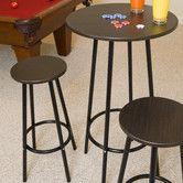 Found it at Wayfair - Zella 3 Piece Pub Table Set Bar Table Sets, Patio Bar Set, Pub Tables, Kitchen Dining Sets, Dining Room Sets, Bar Furniture, Furniture Deals, Billiard Factory, 3 Piece Dining Set