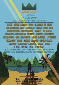 Shikillo Festival 2016 confirma su cartel para este año. Los días 4, 5 y 6 de agosto 2016 en Candeleda