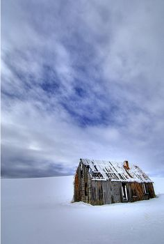 Barn All Alone In The Storm