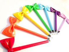 Duck Tape Bow Pens  Customized by MindseyeTreasures on Etsy